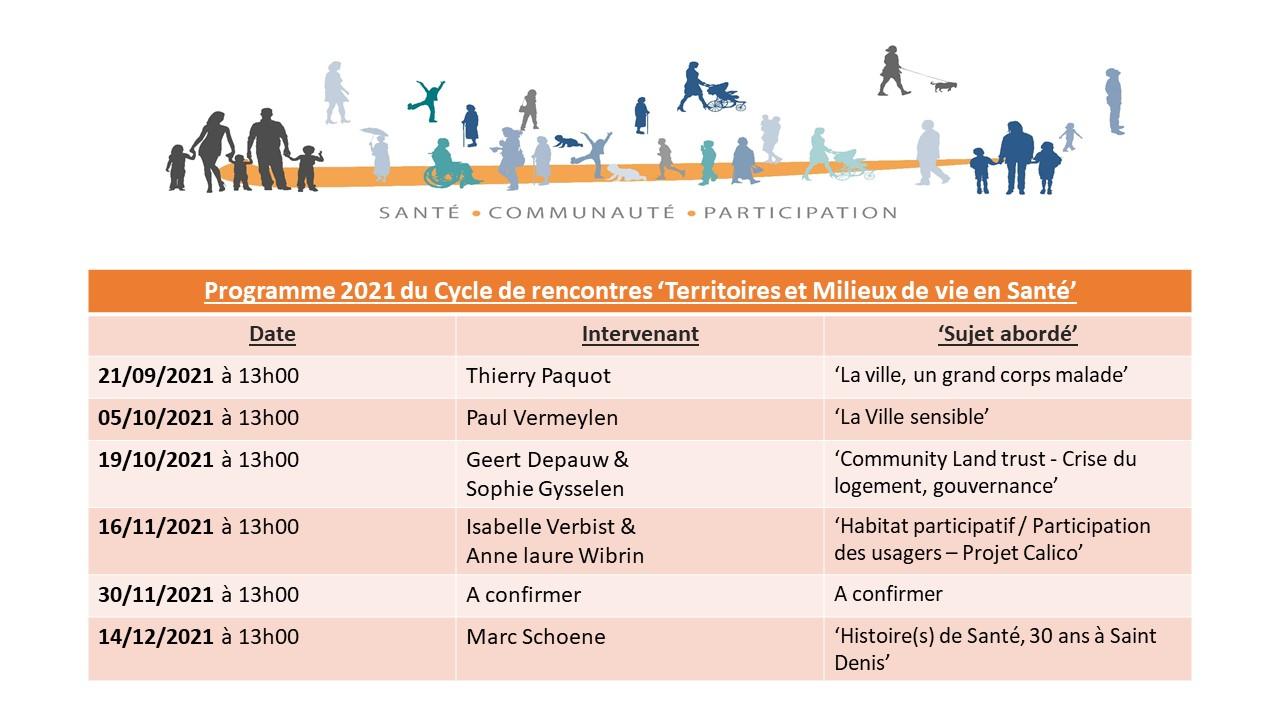 Le programme pour l'année 2021 du Cycle de Conférence - SACOPAR