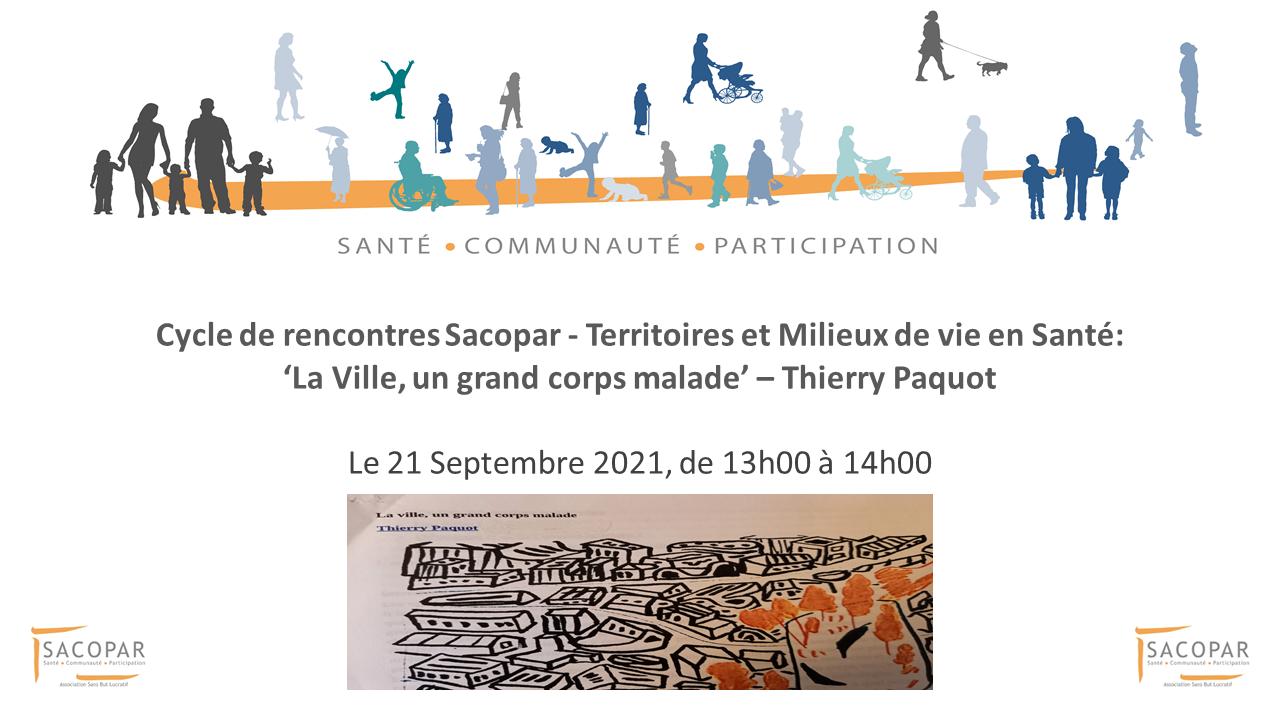 Cycle de rencontre en ligne 'Territoires et Milieux de vie en Santé' - le 21 Septembre